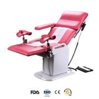 Electrical double control gynecological operating table with two foot support