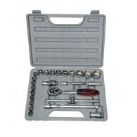 Wholesale 25Pcs 1/2'' Socket Wrench Set / Ratchet Handle Sets for Car Repair and Mechanical Tools from china suppliers