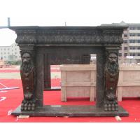 Wholesale Fireplace Frame, Black Marble Fireplace mental from china suppliers