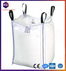 Quality White Flexible Intermediate Bulk Containers Virgin Pp White Fibc Big Bag 1 Ton for sale