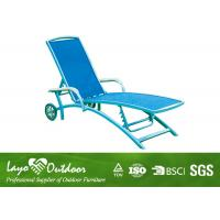 Wholesale Black Aluminium Patio Sun Loungers Outdoor Chaise Lounge Chairs With Wheels Light Weight from china suppliers