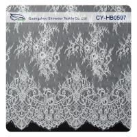 Wholesale Fashion Nylon Stretch Eyelash Ruffled Lace Trim / Embroidered Lace Fabric from china suppliers