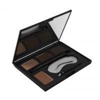China 4 Colors Eyebrows Makeup Products Eyebrow Filler Powder With Mirror on sale