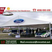 Wholesale Custom 30 X 50 Frame Tent White , Water Resistant Tent  For Auto Show Exhibition from china suppliers