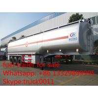 Wholesale carbon steel 55,000L fuel trailer for sale, factory sale best price CLW 38.5tons gasoline tank trailer for sale from china suppliers