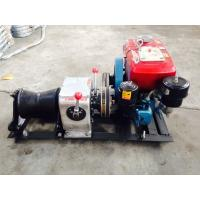 Wholesale Power Construction 1T Diesel Cable Winch With Water Cooled Diesel Engine from china suppliers