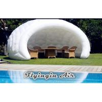 Buy cheap White Inflatable Semicircular Booth, Advertising Inflatable Tent for Conference from wholesalers