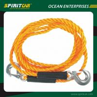 Wholesale Orange Car Emergency Double Hook Car Heavy Duty Tow Rope Strong Tow Strape from china suppliers