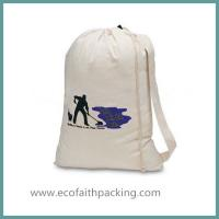 Wholesale cotton laundry drawstring bag, canvas laundry bag from china suppliers
