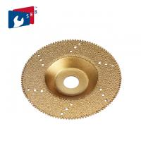 Wholesale Gold Color Flat Vacuum Brazed Diamond Cup Wheel 22.23 Mm Hole For Marble Slab from china suppliers