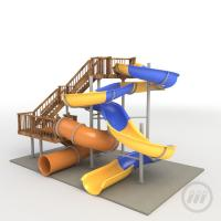 Residential Adult Swimming Pool Water Slides For Holiday