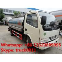 Wholesale dongfeng 5,000L Euro 4 milk tank truck, liquid food tank truck for sale, from china suppliers