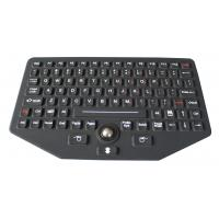 Wholesale 92 keys black silicone industrial keyboard with IP68 optical trackball from china suppliers