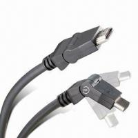 Wholesale Rotable 180 Degree Angle HDMI CABLE with Speed up to 10.2Gbps and Gold Plated from china suppliers