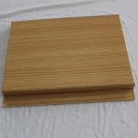 Quality Metal wood grain decorative sheet aluminum interior wall tile for sale