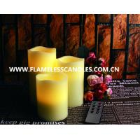 Wholesale Ivory Wax Pillar LED Remote Control Flameless Candles for Christmas or Event from china suppliers