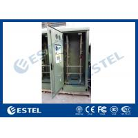 Quality 19 Inch Double Wall Green Outdoor Telecom Cabinet For Wireless Communication Base Station for sale