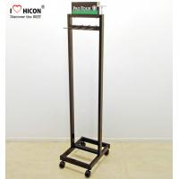Wholesale 4-Caster Retail Store Custom Metal Floor Stand Leather Belt Display Rack from china suppliers