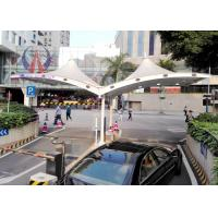 Quality White Self - cleaning Tensile Membrane Structure For Toll Booth , Membrane Covered Entrance for sale