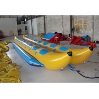 Buy cheap Double Lane Inflatable Flying Fish Boat , PVC Tarpaulin Inflatable Banana Boat for Water Sport Game from wholesalers