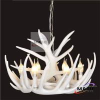 Wholesale Ivory Finished Color Retro Resin Material Antler Chandelier MS-P2009 Six Lamps from china suppliers