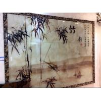 Wholesale Landscape Painting Rippled Decorative Glass Panels Simple For Meeting Room from china suppliers