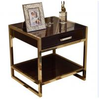 Wholesale High End Hotel Bedside Tables 1 Drawer For 5 Star , Marble Top Nightstand from china suppliers