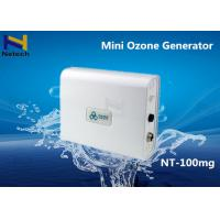 Buy cheap While Mini 100mg Commercial Ozone Generator For Remove Smoke / Air Purifier 9W from wholesalers