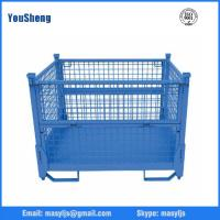 Buy cheap Steel foldable storage wire mesh cage stillage/cage pallet from wholesalers