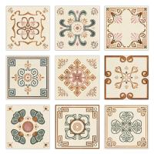 China 200x200 Deco Ceramic Glazed Floor Tiles , Glazed Porcelain Tile  (The Lotus Pool By Moonlight) on sale