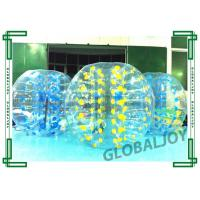 Wholesale Blue Inflatable Soccer Bubble Ball TPU / PVC Body Knocker Ball from china suppliers