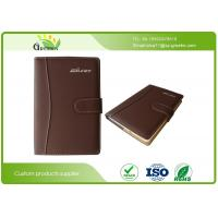 Wholesale Ring Binder Brown PU Leather A4 Custom Embossed Notebook for Company Brand Advertising from china suppliers