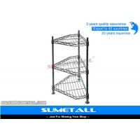 Wholesale 3 Levels Corner Shaped Pantry Wire Shelving / Wire Metal Shelving For Household from china suppliers