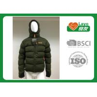 Wholesale Double Layer Warm Down Jacket Removable Hood Waterproof For Hiking / Running from china suppliers