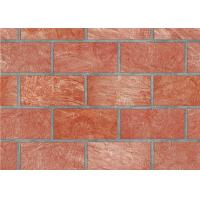 Quality PVC 3D Brick Printing Natural Style Interior Room Wallpaper 0.53*10M for sale