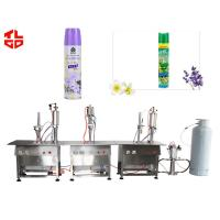 Wholesale Automatic Spray Can Air Freshener Filling Machine , Aerosol Cans Spray Filling Machinery from china suppliers