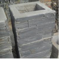 Wholesale Black Slate Column,Natural Stone Pillar,Ledgestone Pillar,Charcoal Stone Postbox,Gate Black Pillar from china suppliers