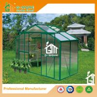 Wholesale 4'x8'x6.7'FT Green Color Double Door Traditional Series Garden Greenhouse from china suppliers