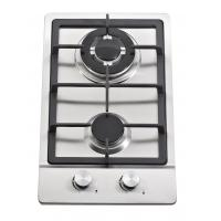 Buy cheap Stainless Steel 2 Burner Gas Hob / Gas Stove Cast Iron Support Matel Knob from wholesalers