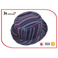 Wholesale Stripe Style Fedora Ladies Trilby Hats National Flavor Without Band from china suppliers