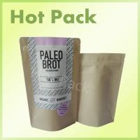 Wholesale Resealable Kraft Stand Up Pouches , Heat Seal Vacuum Food Storage Bags from china suppliers