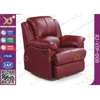 Wholesale Real Leather Cinema Recliner Chair ,  Home Theater Sofa With Food Tablet from china suppliers