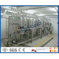 Wholesale 2000L/H ISO standard SUS304 UHT long shelf life pure milk production line for aseptic carton box with PLC control from china suppliers