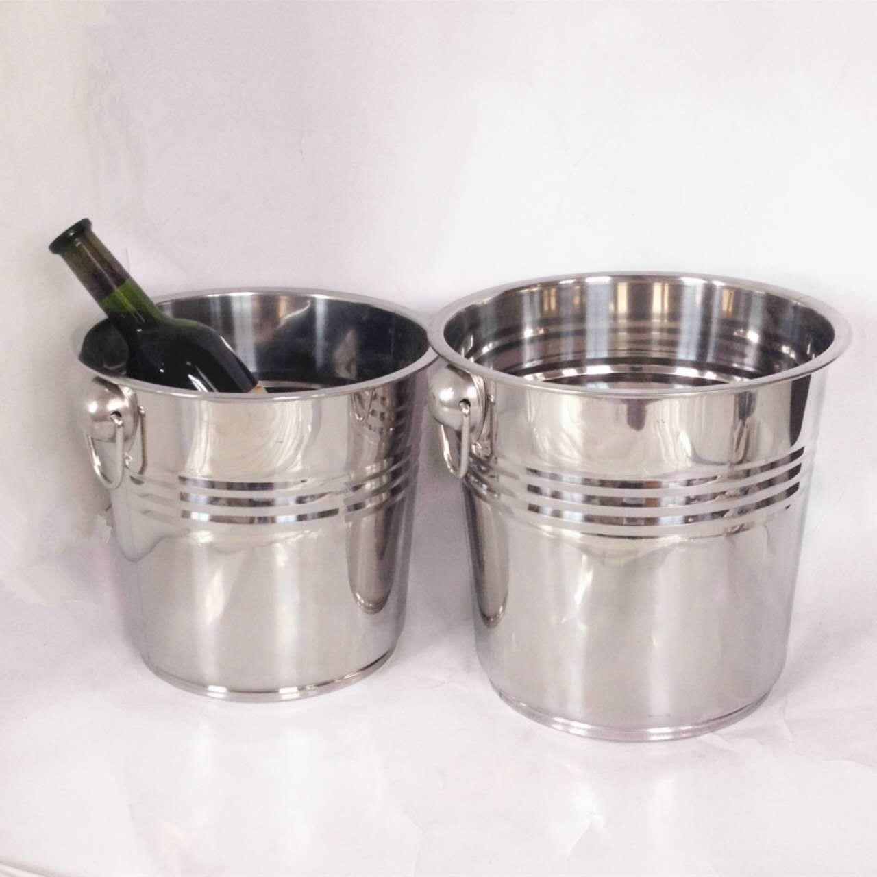 Wholesale popular style stainless steel bucket for cool the beer & ice bucket & ice container from china suppliers