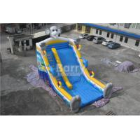 China QiQi elephant single lane Blow Up Slide with digital printing , commercial dry slide on sale
