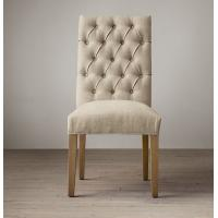 Wholesale weathered oak drifted fabric covered dining room chairs with Thickly padded seat from china suppliers