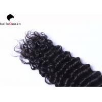Quality Grade 7A Unprocessed Peruvian Human Hair Deep Wave Hair Weft For Women for sale