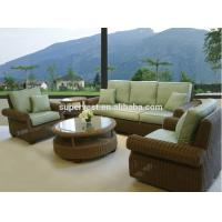 Wholesale Garden Patio Sectional Sofa , 5 Piece Outdoor Wicker Conversation Sets from china suppliers