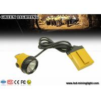 Wholesale 520g yellow KL12LM 25000lux Mining corded miners Cap lamp 4 levels lighting with 12 ah battery from china suppliers