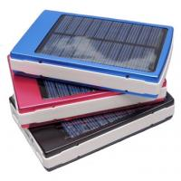 Wholesale Universal 10400mAh Dual USB Solar Panel Power Bank External Phone Charger from china suppliers